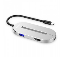 Baseus O HUB Type-C to (HDMI + Type-C + USB 3.0) Silver