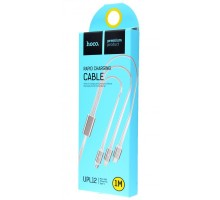 Hoco 3 in 1 cable Lightning/Micro/usb-c 1.2m Silver (UPL12)