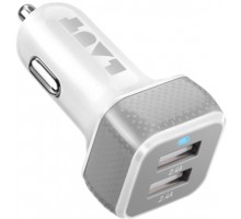 Laut Power Dash 4.8 White (2x12W USB 2,4A) (LAUT_PD02_W)