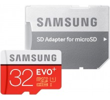 Samsung microSDHC 32GB EVO Plus Class 10 UHS-I + SD Adapter (MB-MC32DA)