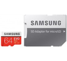 Samsung microSDXC 64GB EVO Plus Class 10 UHS-I U3 + SD Adapter (MB-MC64GA/RU)