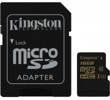 Kingston 16 GB microSDHC class 10 UHS-I U3 + SD Adapter SDCG/16GB