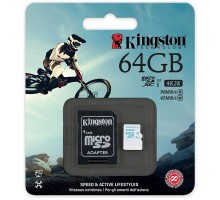 Kingston 64 GB microSDXC class 10 UHS-I U3 + SD Adapter SDCG/64GB