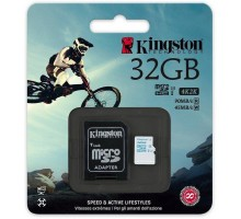 Kingston 32 GB microSDHC class 10 UHS-I U3 + SD Adapter SDCG/32GB