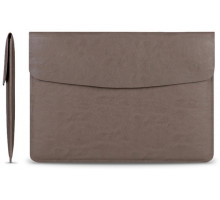 Cartinoe Leather Case Sleeve for MacBook 13 Brown