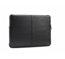 Decoded Leather Slim Sleeve with Zipper for MacBook 12 Black (D4SS12BK)