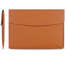 Cartinoe Leather Case Sleeve for MacBook 13 Light Brown