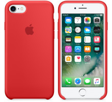 Apple iPhone 7/8 Silicone Case Red (high copy)