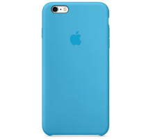 Apple iPhone 6S Silicone Case Blue (high copy)