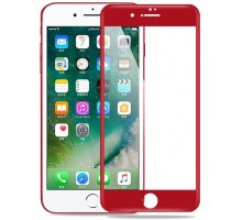 4D Glass for iPhone 7 Red