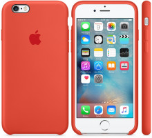 Apple iPhone 6S Silicone Case Orange (high copy)