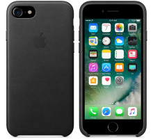 Apple iPhone 7 Leather Case Black (High Copy)