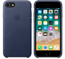 Apple iPhone 7 Leather Case Dark Blue (High Copy)