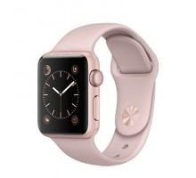 Apple Watch Series 2 38mm Rose Gold Aluminum Case with Pink Sand Sport Band (MNNY2)