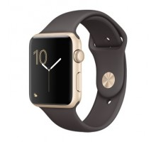 Apple Watch Series 2 42mm Gold Aluminum Case with Cocoa Sport Band (MNPN2)