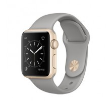 Apple Watch Series 1 38mm Gold Aluminum Case with Concrete Sport Band (MNNJ2)