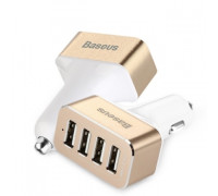 Baseus Smart voyage series Car Charger Black and Gold 4 USB 9.6 Amp (CCALL-HG42V)