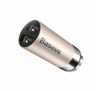 Baseus CarQ Series Dual USB Car Charger - Gold