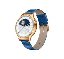 HUAWEI Watch (Rose Gold Stainless Steel with Pearl White Leather Strap Made With Sawarovaki Zircon)