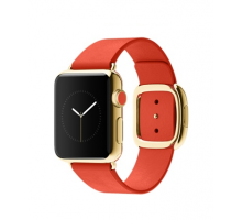 Apple Watch Edition 38mm 18-Karat Yellow Gold Case with Bright Red Modern Buckle (MJ3G2)