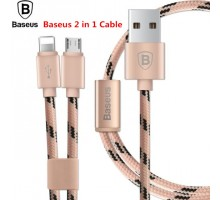 Кабель Baseus Portman Series 2 In 1 MicroUSB And Lightning Cable
