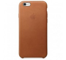 Apple iPhone 6S Leather Case (Saddle Brown) (MKXT2)