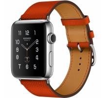 Apple Watch Series 2 42mm Hermes Stainless Steel Case with Feu Epsom Leather Single Tour (MNQ22)