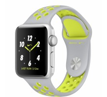 Apple Watch Nike+ 38mm Silver Case with Flat Silver/Volt Nike Sport Band (MNYP2)